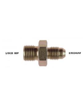 ADAPTOR 1/8X28 BSP - 3/8X24 JIC STEEL