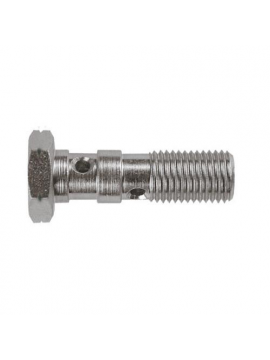 BOLT DOUBLE 3/8X24 JIC STEEL CROMADO 30 MM