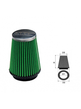 Air-cleaner Green Conical Ø 65 MM