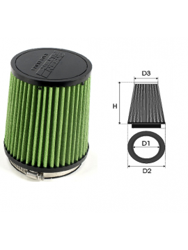 Air-cleaner Green Cylindrical Ø 20 MM