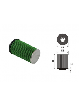Air-cleaner Green Cylindrical Ø 65 MM