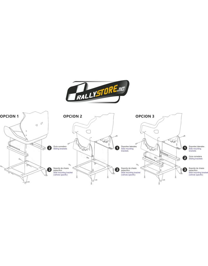 base de asiento para ford fiesta 3