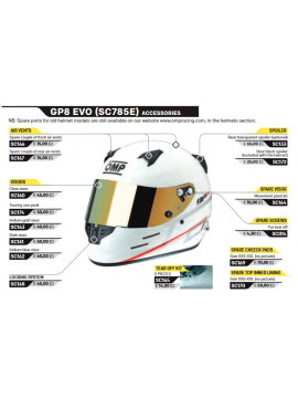 TEAR OFF PARA CASCO GP8 EVO