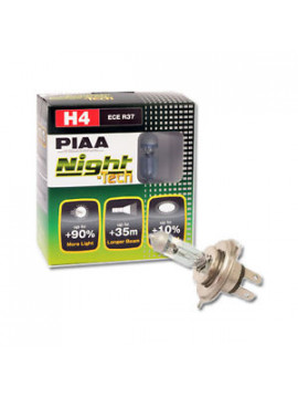LÁMPARA H4 PIAA NIGHT TECH 60/55W=140/130W (PAR)