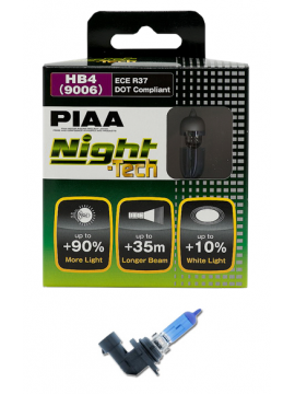 LÁMPARAS HB4 (9006) 51W/105W PIAA NIGHT TECH (PAR)