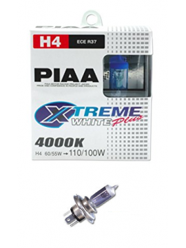 H4 PIAA XTREME WHITE PLUS 60/55W=110/100W BULBS