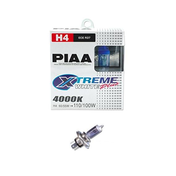 H4 PIAA XTREME WHITE PLUS 60/55W=110/100W BULBS