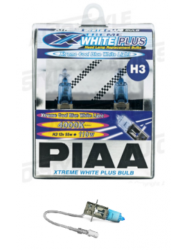 H3 PIAA XTREME WHITE PLUS 55W=110W BULBS