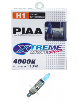 H1 PIAA XTREME WHITE PLUS 55W=110W BULBS