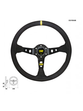 OMP DISHED STEERING WHEEL CORSICA ANODIZED BLACK SPOKES