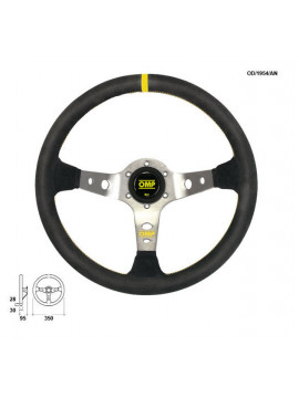 OMP DISHED STEERING WHEEL CORSICA ANODIZED SILVER SPOKES