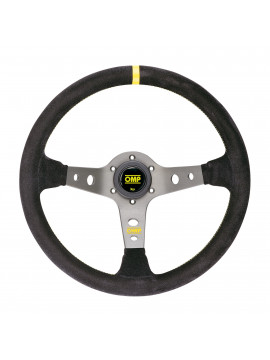 OMP DISHED STEERING WHEEL CORSICA ANODIZED TITANIUM SPOKES