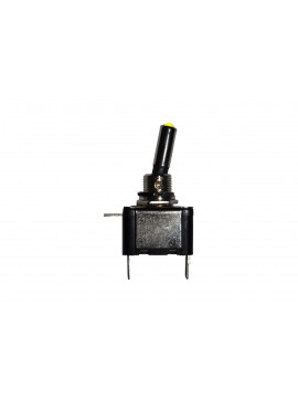 12 volt On/Off toggle switch with yellow LED tip, 25 Amps