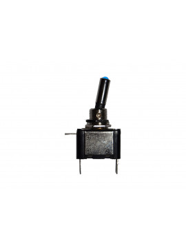 12 volt On/Off toggle switch with blue LED tip, 25 Amps