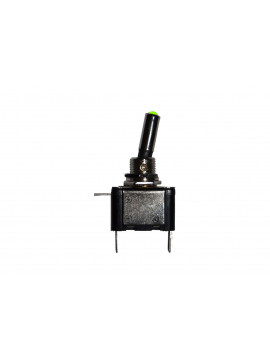 12 volt On/Off toggle switch with green LED tip