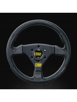 OMP TRECENTO UNO FLAT STEERING WHEEL BLACK