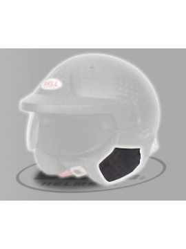 CUBIERTA LATERAL HCB CASCO BELL MAG 10 CARBON (2 UNIDADES)