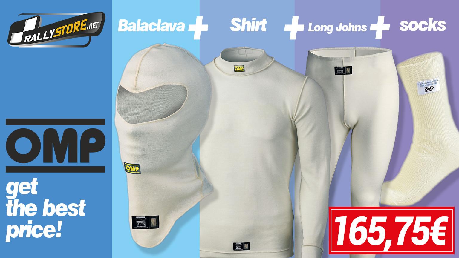 Pack completo para piloto de ropa interior