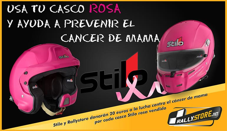 Casco Stilo Rosa Cancer Mama