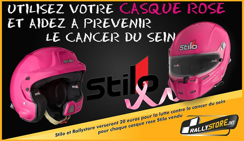 Casque Stilo Rose Cancer Sein